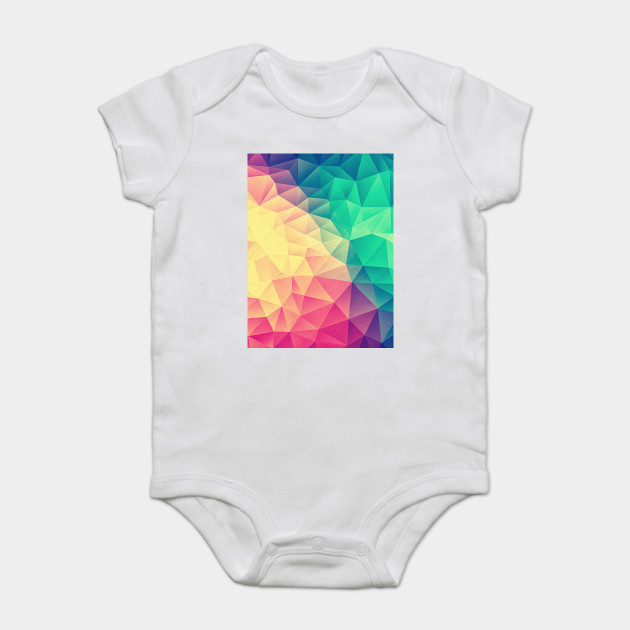 f455a3df Color bomb! Abstract Polygon Multi Color Cubism Low Poly Triangle Design  Onesie