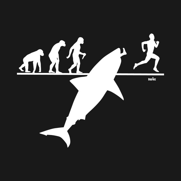 Evolution Of Man With Megalodon