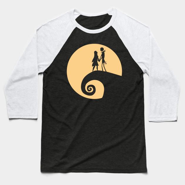 4f2b2d2888eacd Jack and Sally - Nightmare Before Christmas - Baseball T-Shirt ...