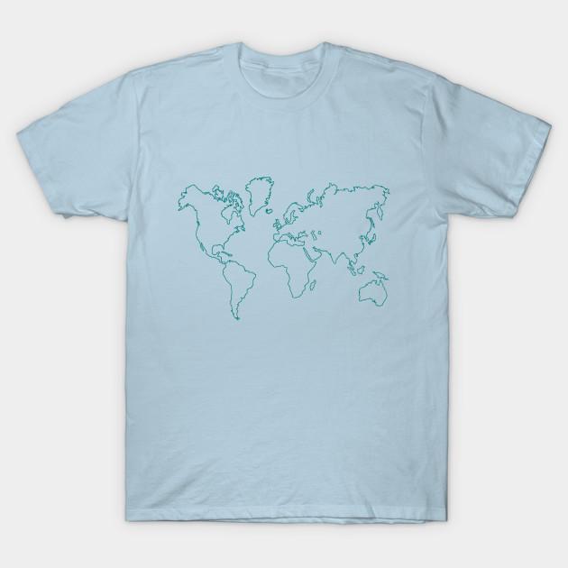 World Map World Map T Shirt Teepublic