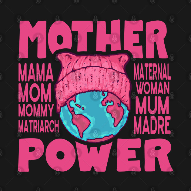 Mother Power - Pink Cat Hat Earth