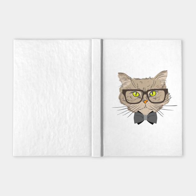 Hipster Cat Kitten Spectacles Eye Glasses Funny Cute T-Shirt