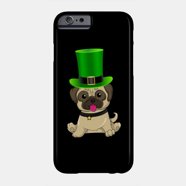 Pug St Patrick's Day Irish Leprechaun Dog Hat - Gift For Pug Owner Puppy,Saint Patrick's Day, Irish,Ireland ,Leprechaun,Hat, Lover Phone Case