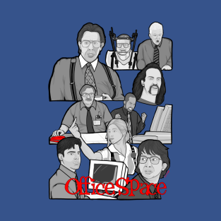 office space character collage t-shirts