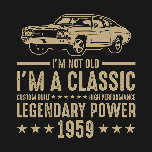 Classic 1959 T Shirt For Men Women 60th Birthday Gift Ideas