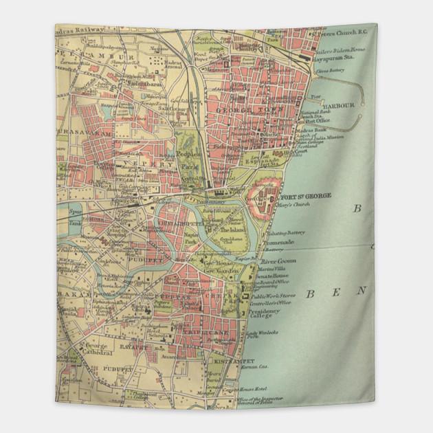 Vintage Map of Madras India (1909) on map of cape town south africa, map of guangzhou china, map of stockholm sweden, map of taipei taiwan, map of port elizabeth south africa, weather madras india, map of zurich switzerland, madras chennai india, map of adana turkey, photographs of madras india, map of mombasa kenya, map of xiamen china, map of malindi kenya, map of copenhagen denmark, map of bora bora tahiti, map of krakow poland, map of phuket thailand, map of jakarta indonesia, map of kuala lumpur malaysia, maps of only india,