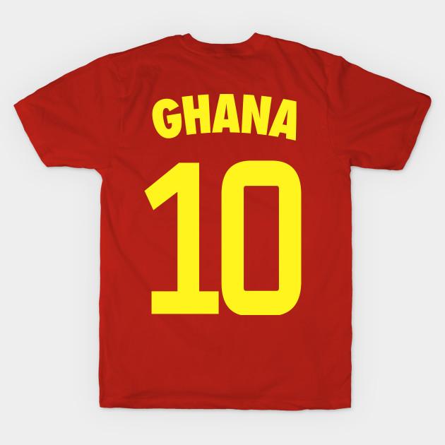Ghana National Football Team Nr 10 Black Stars Soccer Team Ghana Ghana T Shirt Teepublic
