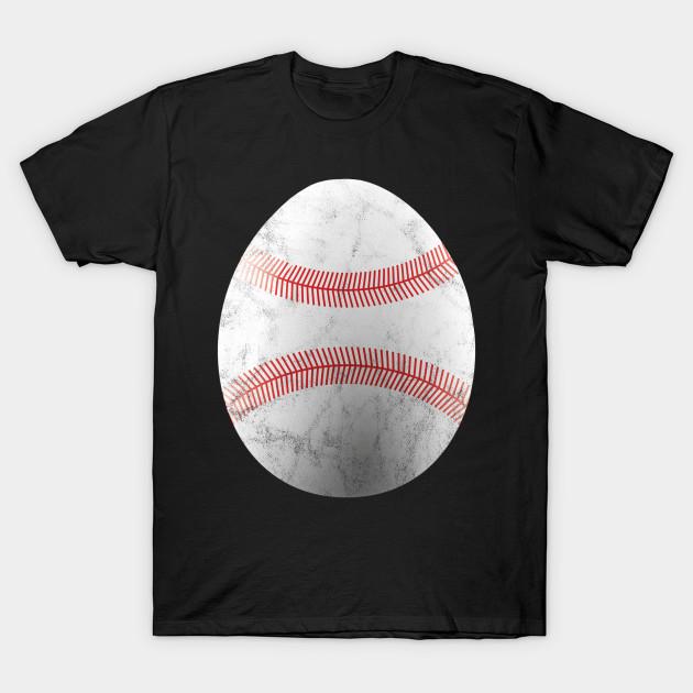 1aa14ece546c ... T-Shirt. New!Back Print. Baseball Easter Gift Sport Funny Easter Egg ...