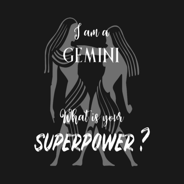 Gemini Superpower Man Woman Funny Gift Birthday