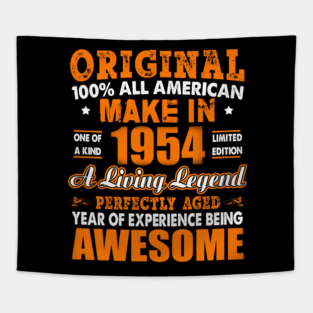 Made In 1954 64th Birthday Years Original Vintage Tapestry