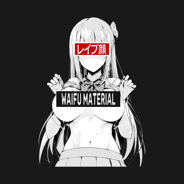 Waifu Material Lewd Ecchi Ahegao Busty Babe Anime Girl