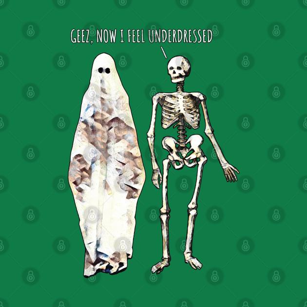 Overdressed Ghost & Skeleton