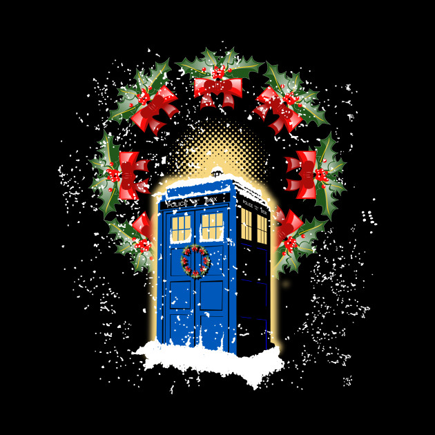 A WARM AND CONFORTABLE TARDIS I N THE SNOWSTORM