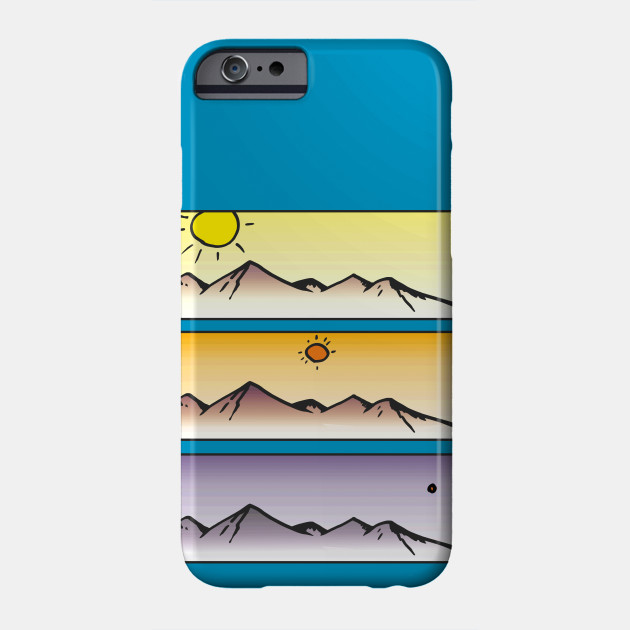Flat Earth Sunset Phone Case