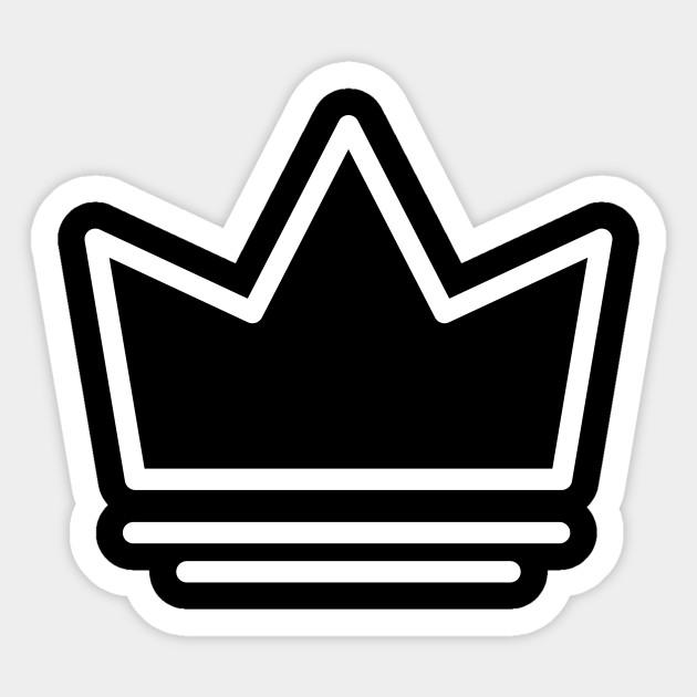 White Crown Logo White Crown Logo Sticker Teepublic
