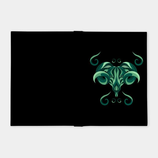 Aries Zodiac Sign - Green