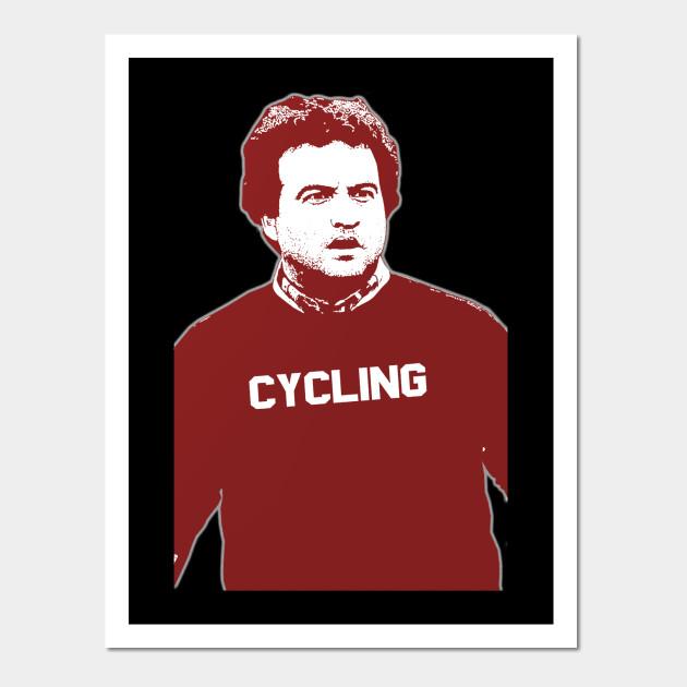 John Belushi Cycling - Cycling - Wall Art | TeePublic
