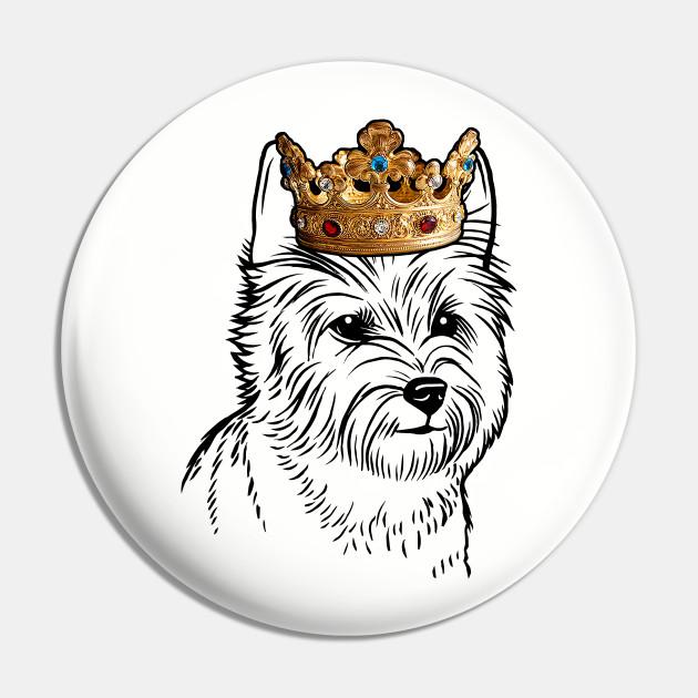 Cairn Terrier Dog King Queen Wearing Crown