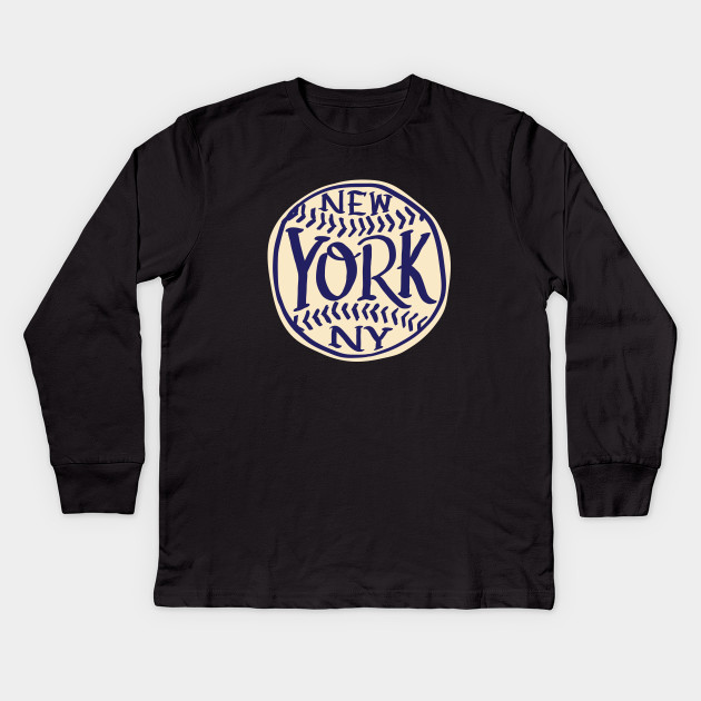 NYC New York Hand Drawn Typography Baseball