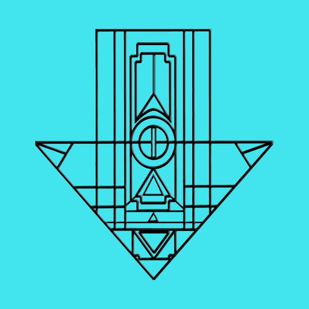 Geometric Arrow Outline