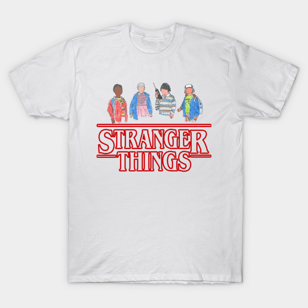 stranger things the gang stranger things t shirt. Black Bedroom Furniture Sets. Home Design Ideas