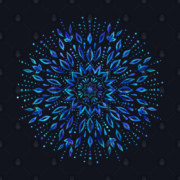 Watercolor Mandala ornament.
