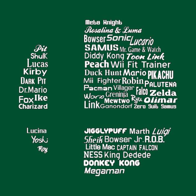 de5e8690 Character (S)Mash Up - White - Super Smash Bros - Long Sleeve T-Shirt |  TeePublic