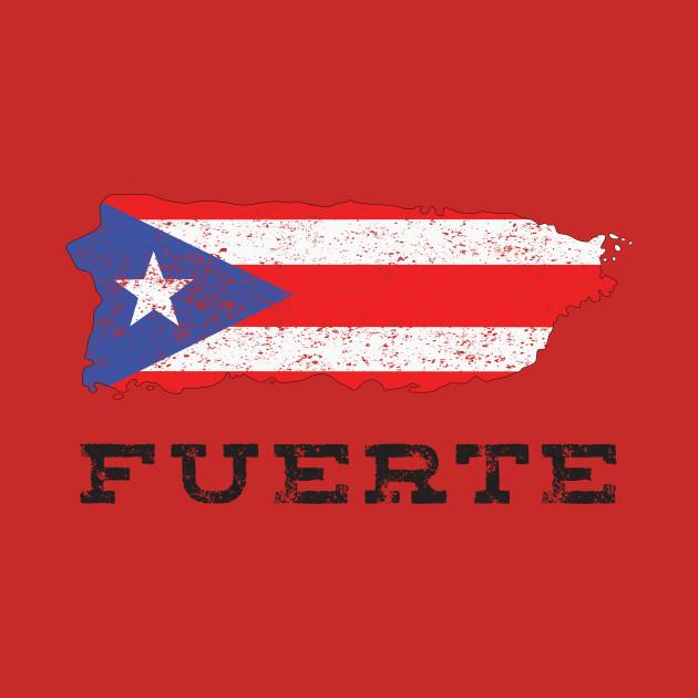 Puerto Rico Strong Fuerte Camiseta
