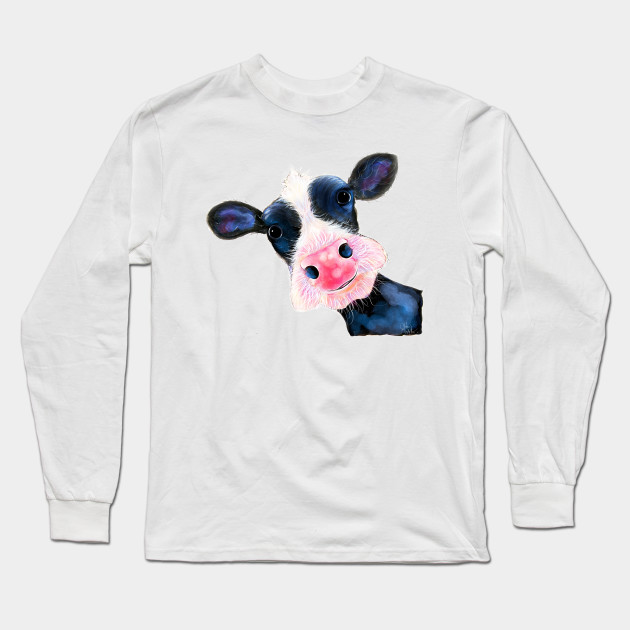 7d9925c040 CoW PRiNT NoSeY CoW   HeLLo SuNSHiNe   by SHiRLeY MacARTHuR Long Sleeve T- Shirt