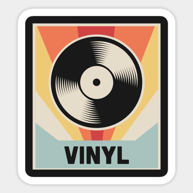 Vinyl Vintage Record Vinyl Sticker Teepublic