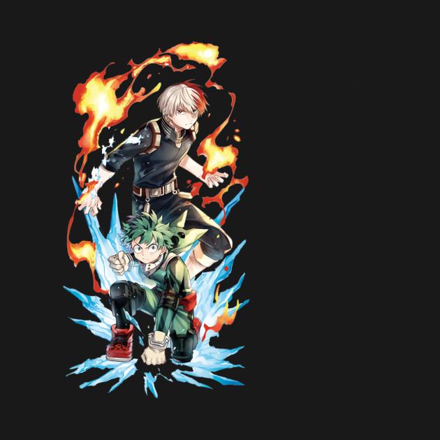 """Izuku """"Deku"""" Midoriya vs Shoto Todoroki (My Hero Academia)"""