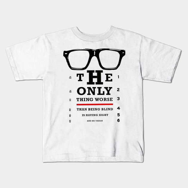 Vision Test Glasses Inspirational Quote