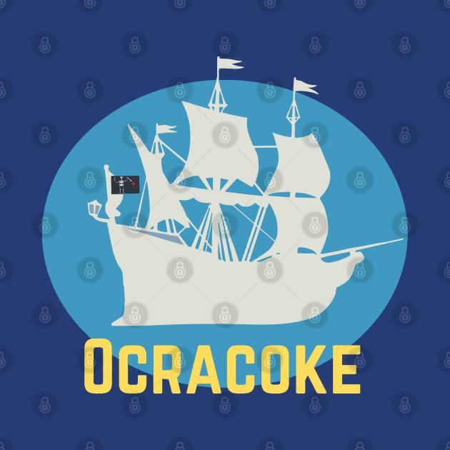 Ocracoke Island Pirate Ship Flag