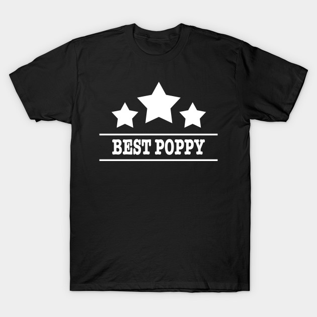 0ad821d70 Men's Best Dad T Shirt for Daddy Funny Father's Day Shirt Gift_BEST POPPY T- Shirt