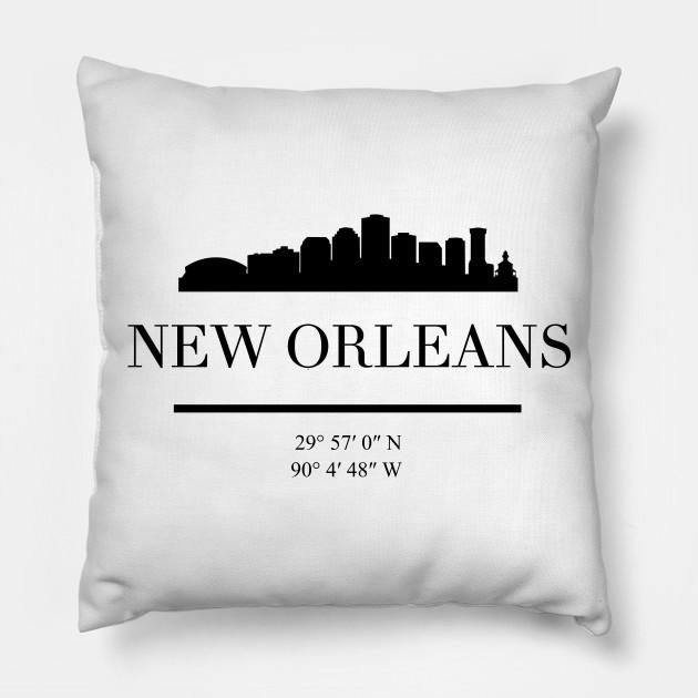 New Orleans Louisiana Black Silhouette Skyline Art New Orleans Pillow Teepublic