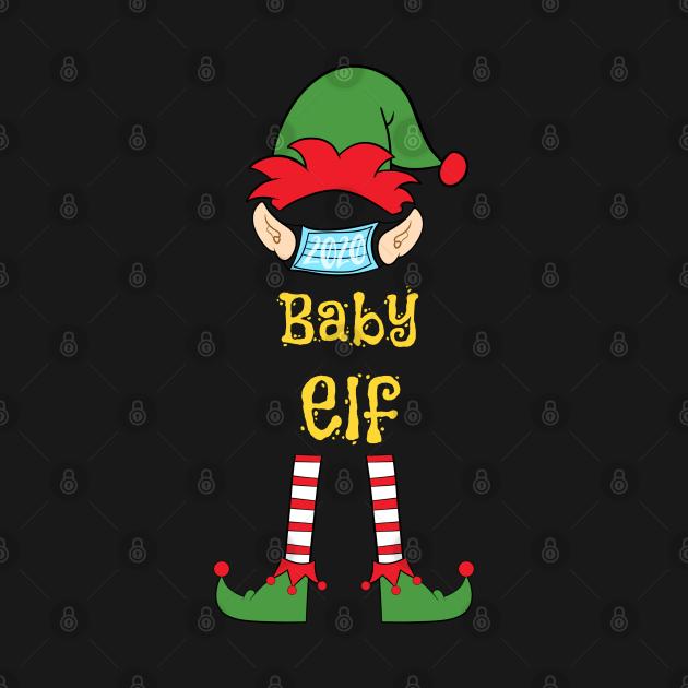 2020 Masked Christmas Elf Family Group Matching Shirts -  Baby