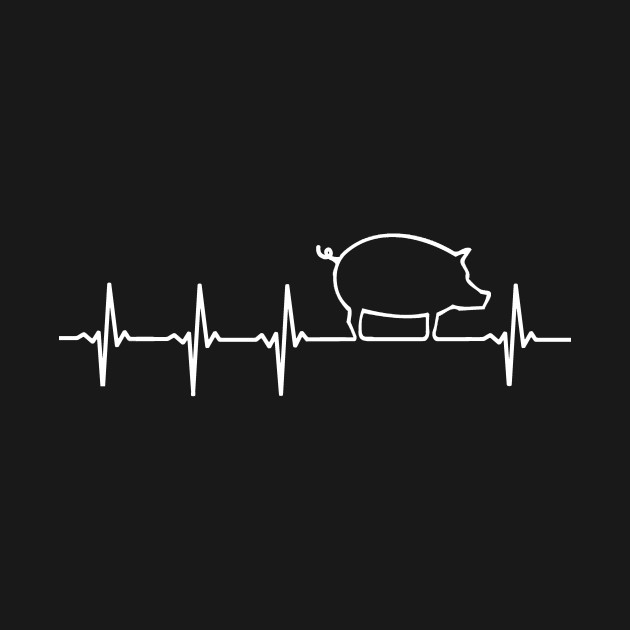 PIG Heartbeat EKG Shirt I Love My Piggy Heart