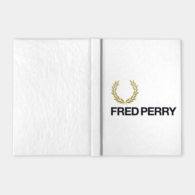 fred perry logo - fred perry - notebook   teepublic