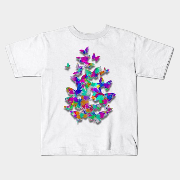406fb61cb Flutter of Color - Butterfly - Kids T-Shirt | TeePublic