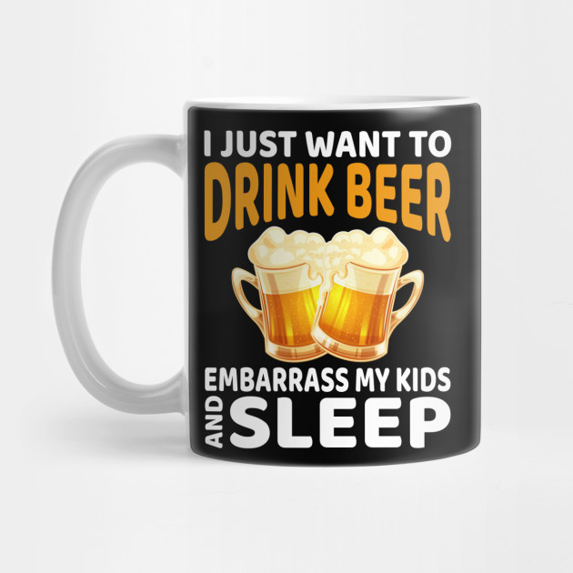 Beer Drinking Dads Gift For Dad or Father On Fathers Day Mug