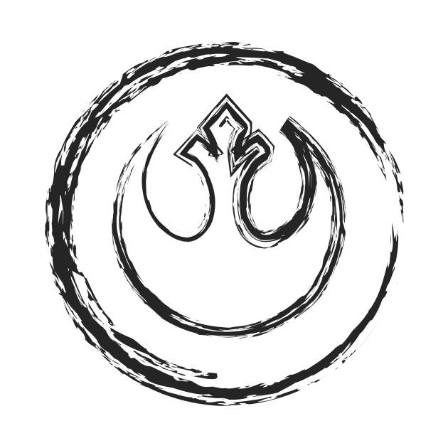 Star Wars Rebel Alliance Logo Black Star Wars Onesie Teepublic