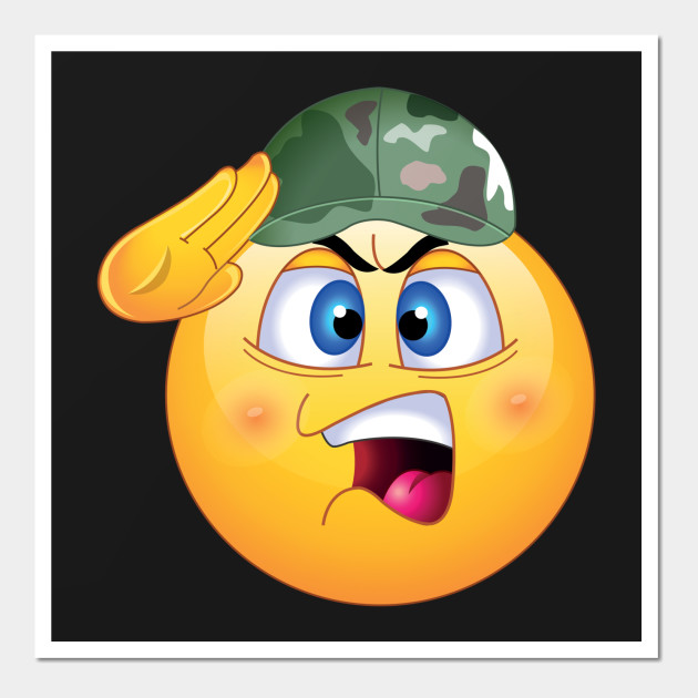 Army Emoji - Vet - Wall Art | TeePublic
