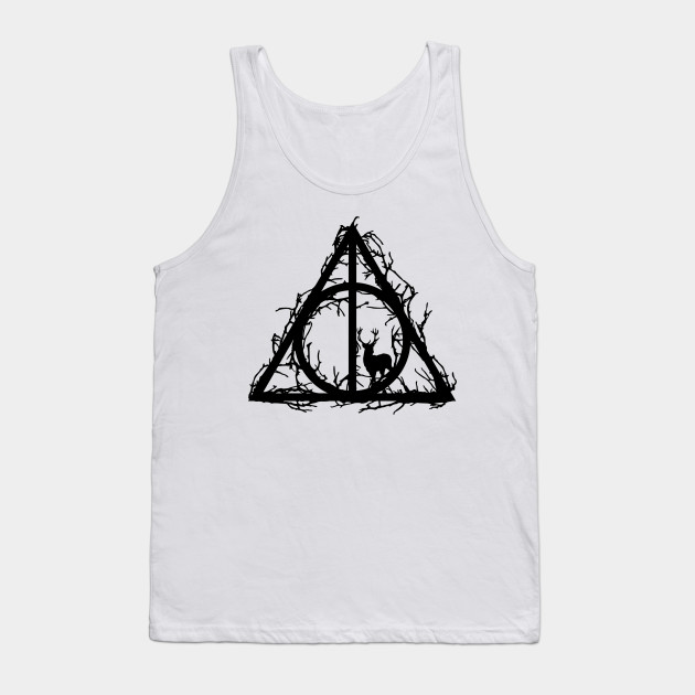 5c1ab460cbcea Harry Potter - Deathly hallows - Prongs in the forbidden forest (branches  only black version ...