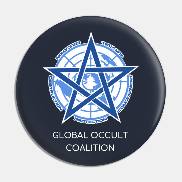 Scp Foundation Global Occult Coalition Scary Logo Scp Pin