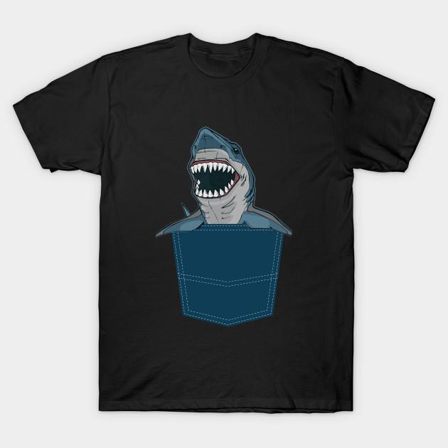 6a3e02c15 Funny Pocket Shark Design Shark Lover Gift - Shark - T-Shirt | TeePublic