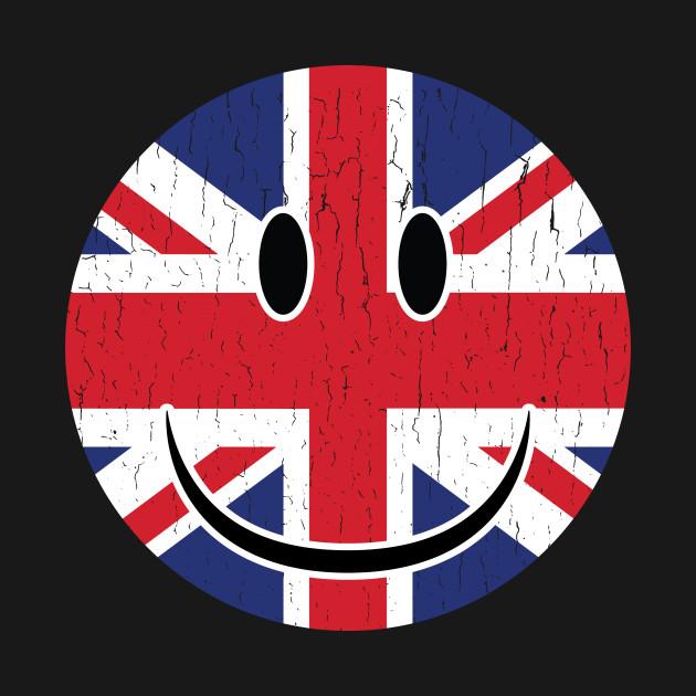 Smiley UK Flag Fan Smiley UK Fan Gift