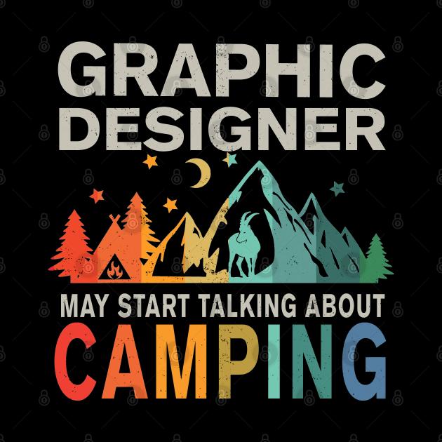 Camping Graphic Designer Shirt, Graphic Designer Mask, Graphic Designer Stickers & Gifts