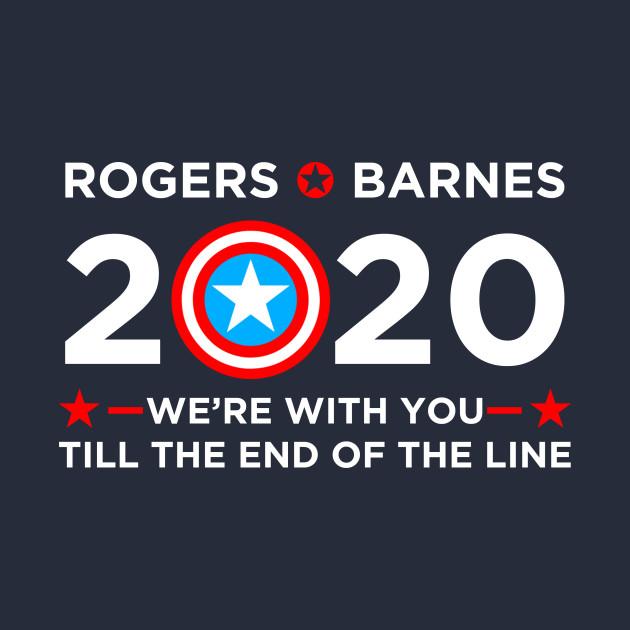 2020 Election Vote Captain America Political Campaign (white)