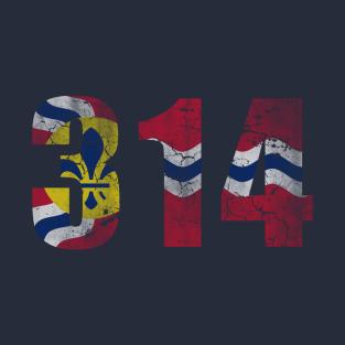314 St Louis Flag Missouri t-shirts