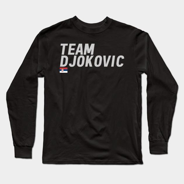 Team Novak Djokovic Novak Djokovic Long Sleeve T Shirt Teepublic